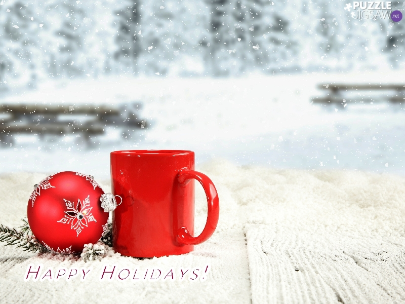 ##, bauble, text, Red, snow, Cup