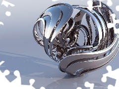 Metal, 3D, abstraction
