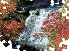 autumn, waterfall