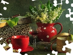 basket, lilies, red hot, china, Book