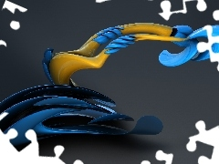 blue, Yellow, 3D Graphics