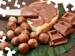 bread, chocolate, nuts
