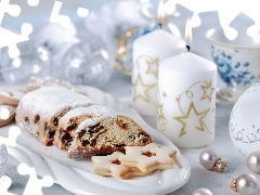 cake, Candles, Christmas, White