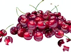 Fruits, cherries