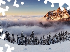 cloud, winter, Mountains, ##, mount