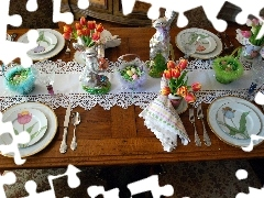 easter, breakfast, Table, cover