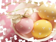 eggs, color, Easter, plate
