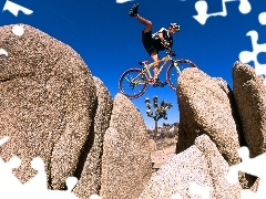 feats, Biking, Mountains, extreme, a man