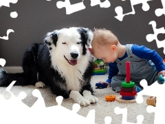 friends, toys, Kid, dog