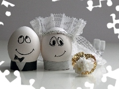 Funny, Steam, eggs, wedding, young