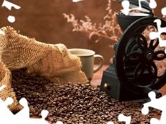 coffee, mill, grains, coffee, bag, Do