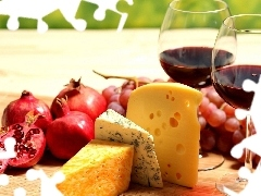 Wine, Cheese, Grapes, grenades