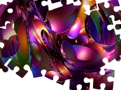 graphics, Mosaic, abstraction, Violet
