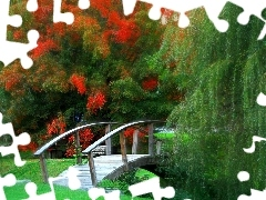 Park, bridges, graphics, Willow