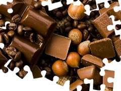 cuts, nuts, hazelnuts, chocolate