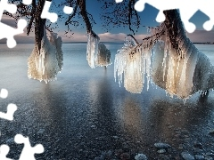 icicle, lake, Icecream