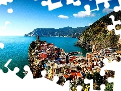Ligurian Sea, Varnazza, Italy, Town