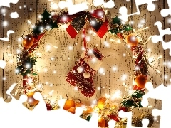 Christmas, lights, decoration