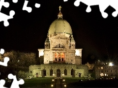 Montreal, St. Joseph, Night, oratorio