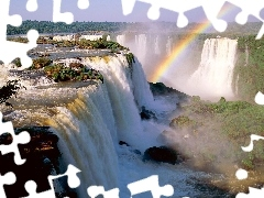 waterfall, Great Rainbows, noise, water