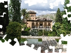 palace, Garden, fortified, Team, alhambra