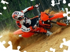 Motocross, player, forest