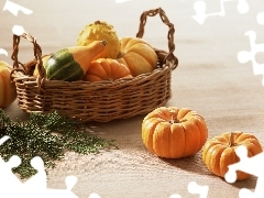 basket, pumpkin