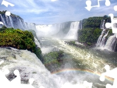 Great Rainbows, waterfall, River