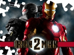 Human, machine, Iron Man 2, Robot, movie