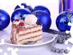 Small cake, piece, baubles, beads
