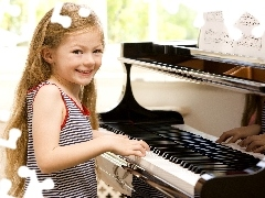 girl, Tunes, Smile, piano