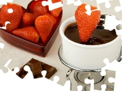 strawberries, heater, Smooth, chocolate