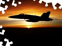 Military truck, west, sun, Jet