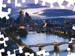 Frankfurt, River, Town, bridge