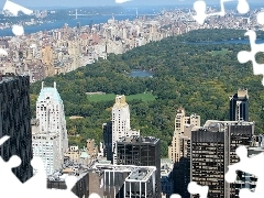 New York, panorama, town