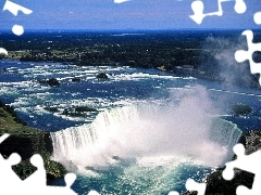 Niagara Falls, wide, waterfall