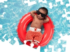 point, Funny, Glasses, Pool, Kid