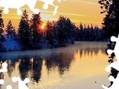 Great Sunsets, winter, River