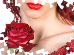 Women, red hot, rose