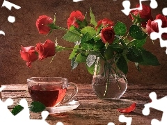 tea, bouquet, rouge